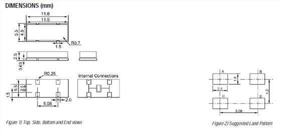 ecs晶振,csm-12晶振,四脚石英晶体